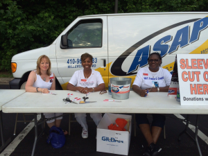 GSM at Bridge ride for Heroes Regina, Janice and Donna 13 June 2015