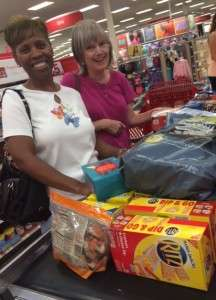 Janice and Lee Ann - Shopping for troops - July 28 2015