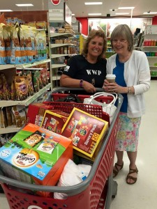 Lee Ann_Theresa_Shopping for goodie bags for Single Marines and Sailors